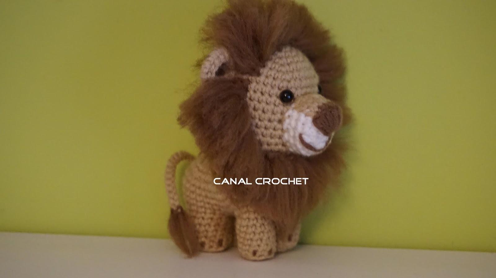 Osito Amigurumi Tutorial Canal Crochet : CANAL CROCHET: Leon amigurumi patron libre.