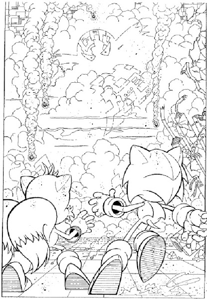 Sonic and Friends Coloring Pages