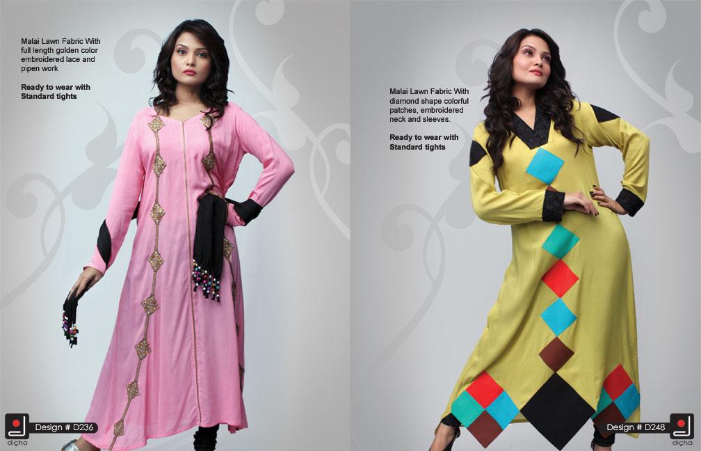 Dicha long kurti collection 2013 volume 3 dicha clothing 2013