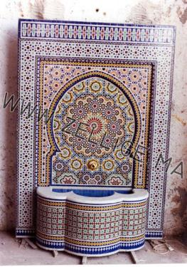 fontaines en zellige marocain zellige marocain carreaux zelliges moroccan zellij. Black Bedroom Furniture Sets. Home Design Ideas