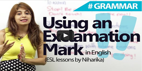 When to Use an Exclamation Mark