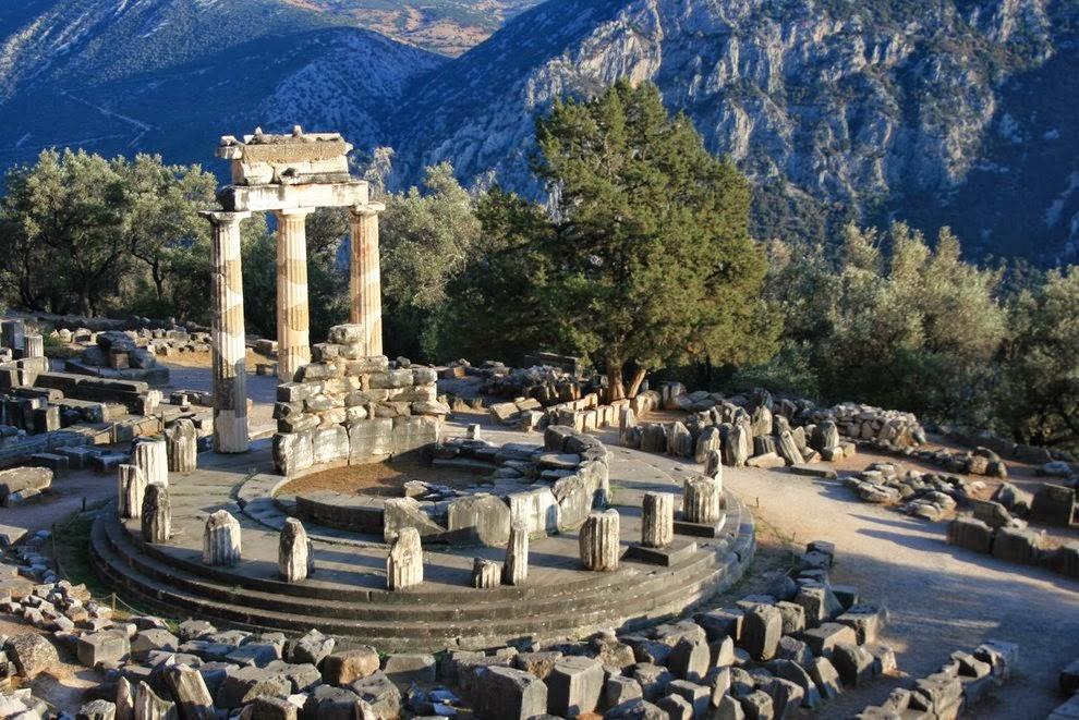 Tholos temple - Delphi, Greece