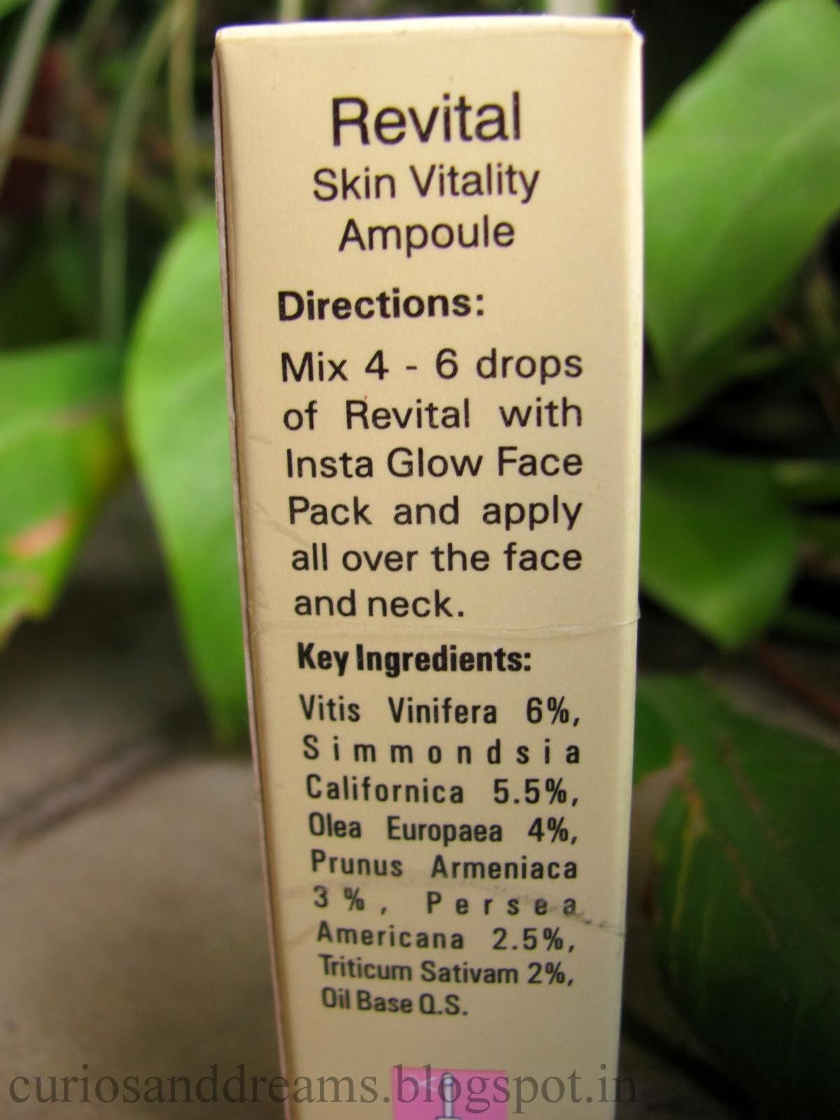 VLCC  revital skin vitality ampoule review