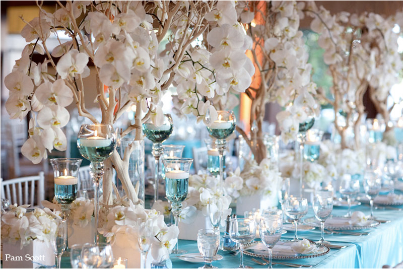 Wedding ideas tiffany blue with a touch of bling for Baby blue wedding decoration ideas