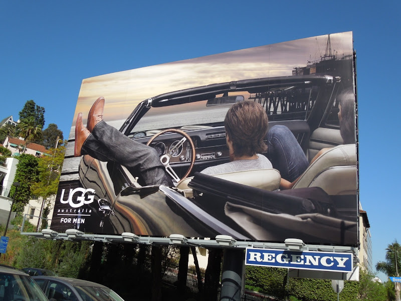 UGG for Men car billboard