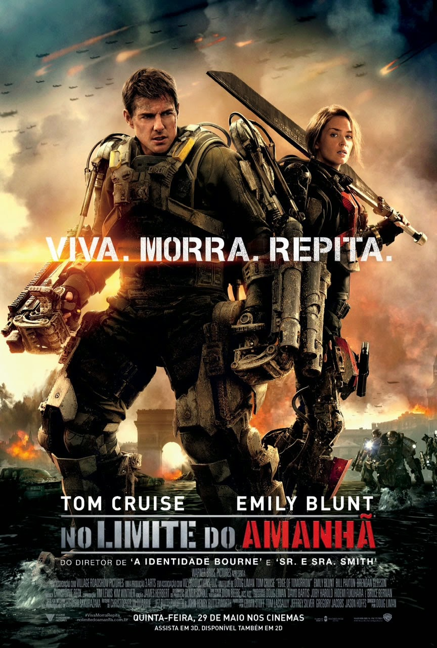 Pôster/capa/cartaz nacional de NO LIMITE DO AMANHÃ (Edge of Tomorrow)