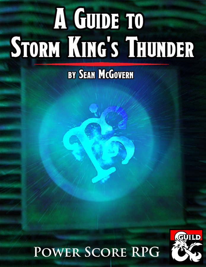 It's done! Pick up a pdf of A Guide to Storm King's Thunder on the DMs Guild