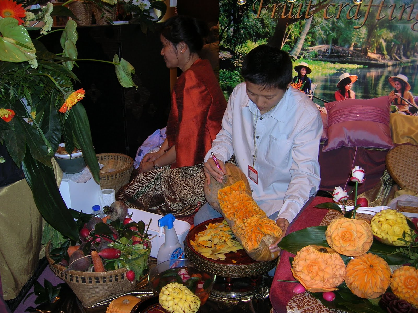 Fitur, stand Tailandia, decoración hortalizas tailandeses, vuelta al mundo, round the world, La vuelta al mundo de Asun y Ricardo