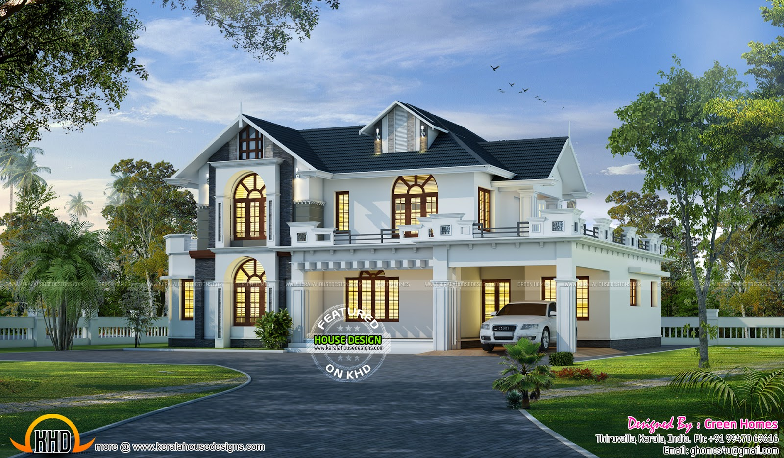 Wonderful house design kerala home design and floor plans for Www homedesign com