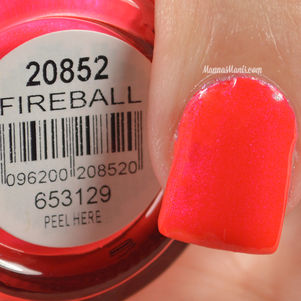 Orly Adrenaline Rush Fireball swatches
