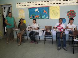 Professora Josinha e os alunos do 9ºano.