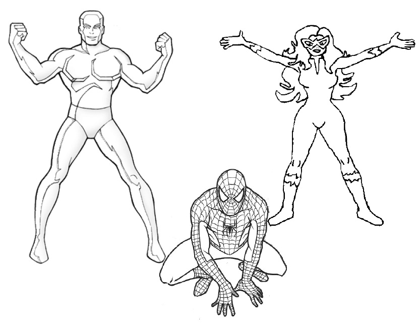 Ice Superhero Drawing as Well as Ice Man