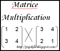 C Code to find multiplication of two Matrices