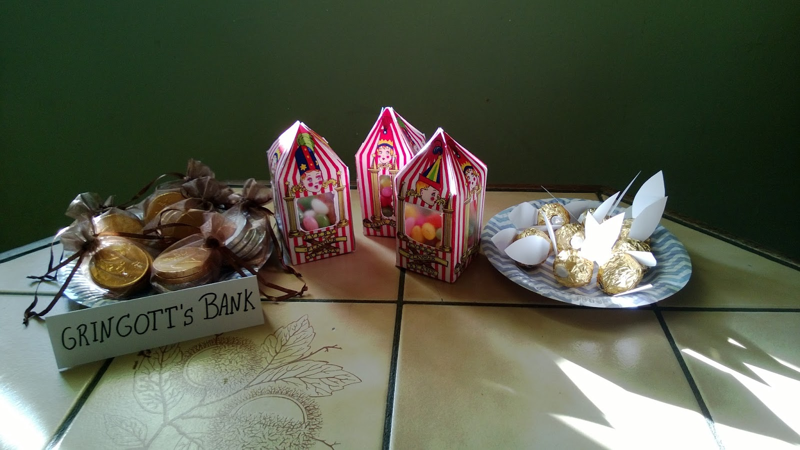 Deco harry potter anniversaire for Decoration gateau nouvel an