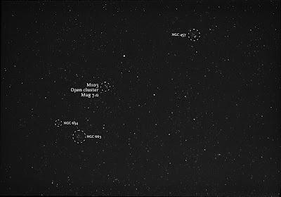 M103 deep sky open cluster