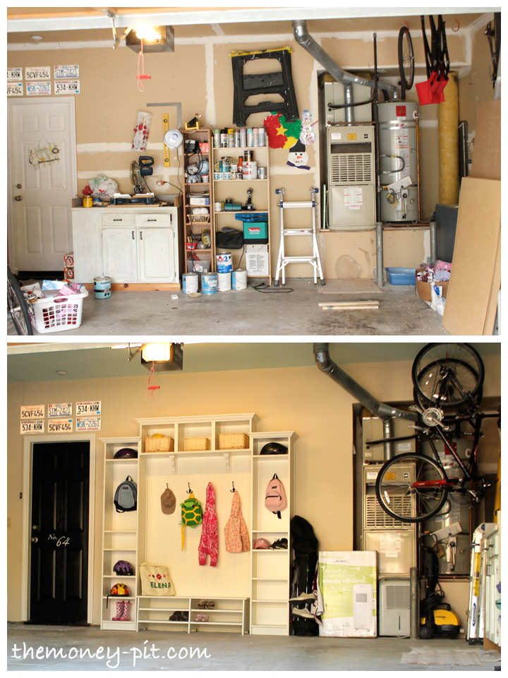 Garage and mudroom reveal the kim six fix for Garage mudroom designs