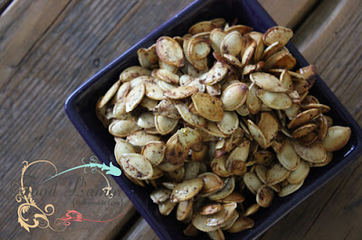 Honey Spiced Roasted Pumpkin Seeds