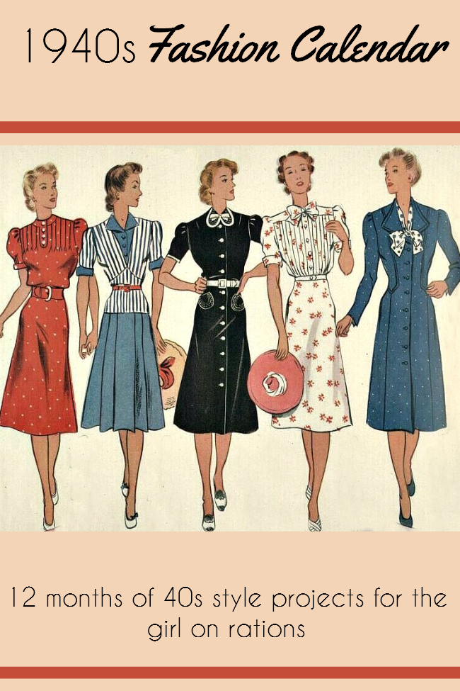 1940s fashion calendar