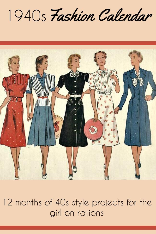 The 40s Fashion Calendar Lovebirds Vintage