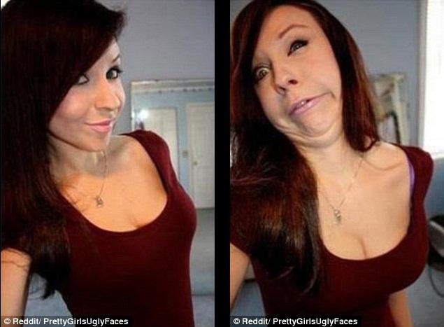 Wajah wanita cantik berubah jadi Jelek