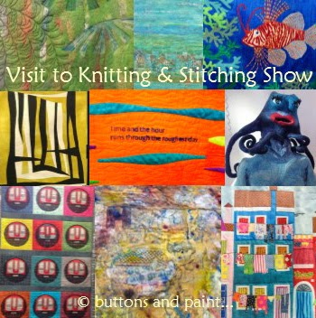 Knit And Stitch Show : buttons and paint...: ... and a Visit to the Spring Knitting and Stitching Show