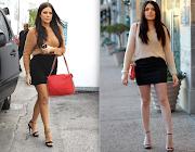 Kim in Kardashian Kollection Green Jeans