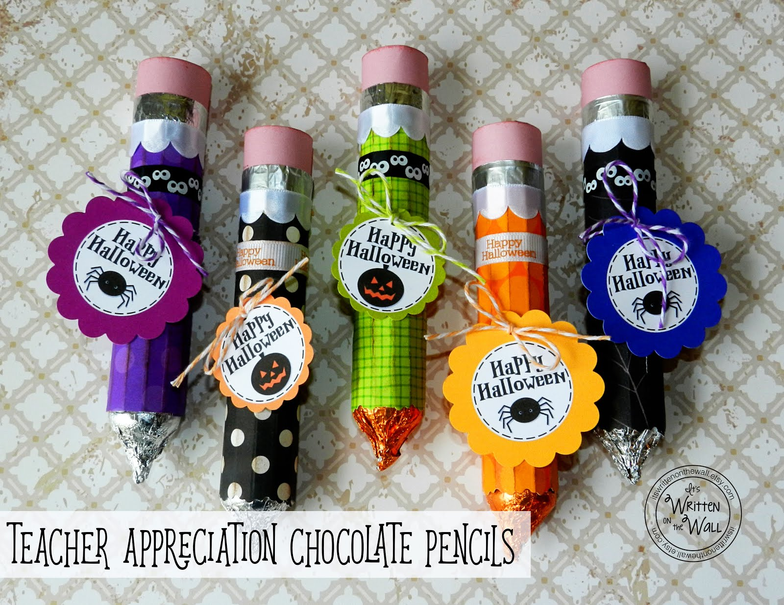Halloween Chocolate Pencils for Teacher