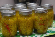 Southern Sweet ChowChow Relish. Recipe from the Mountain Laurel