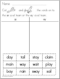 Friday Freebie: Vowel Team Word Sort