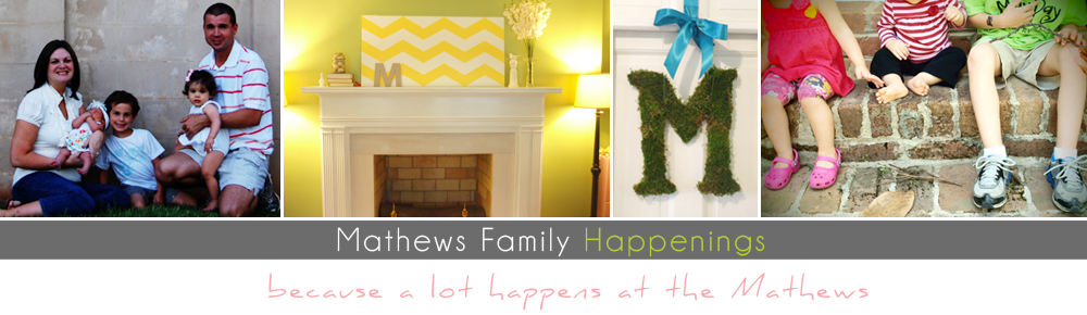 the Mathews Family Happenings