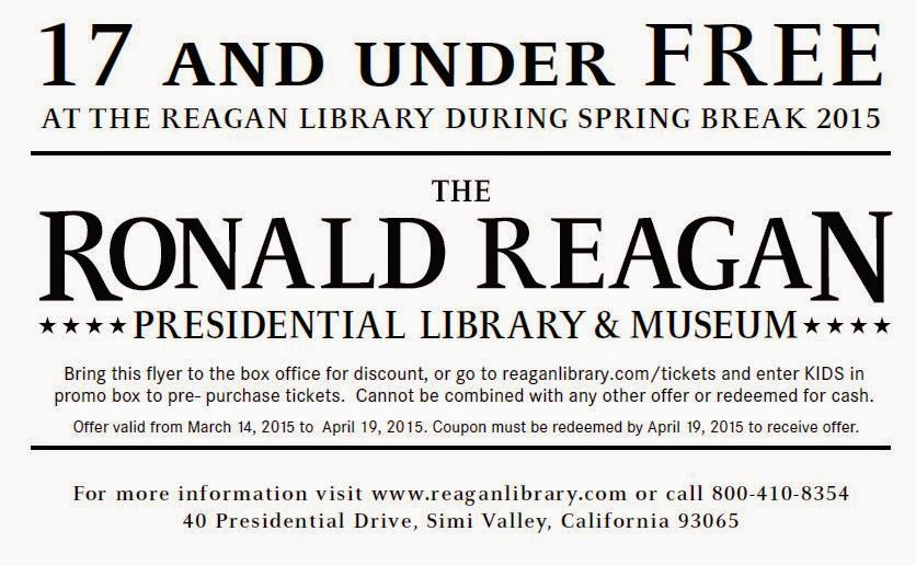 Reagan library coupon 2018