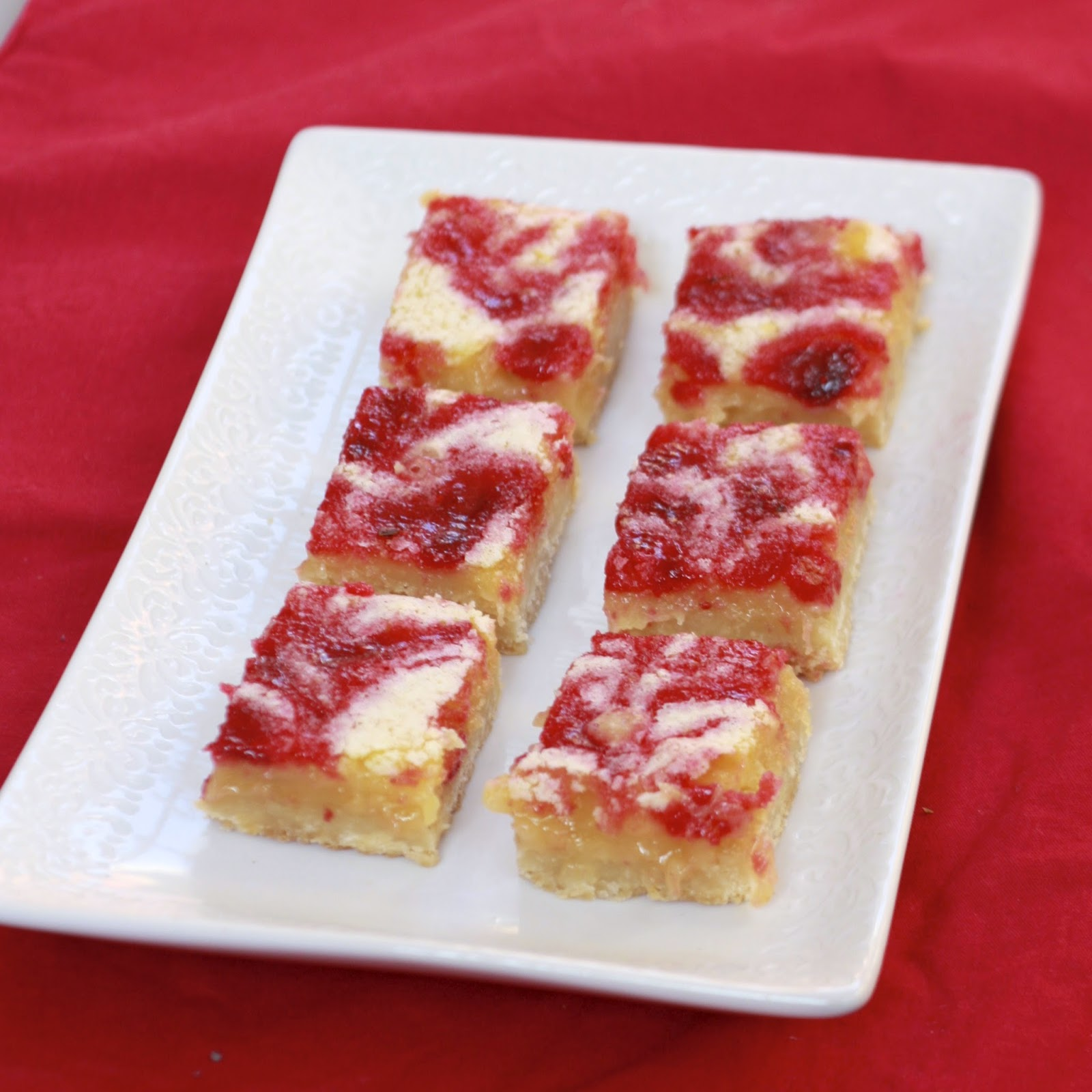 Lemon Cranberry Pie Bars