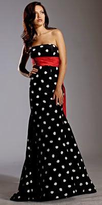 vestido de festa longo com bolinhas - fotos e modelos