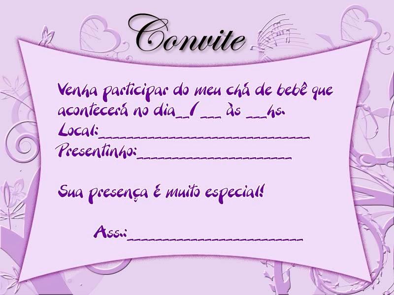 Convite para chá de bebê para imprimir 12
