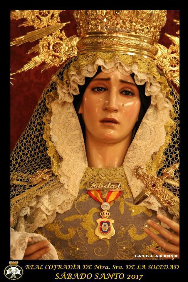 Cartel de la Hermandad de Nuestra Señora de la Soledad 2017