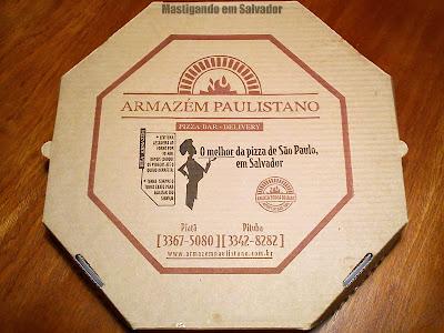 Pizaria Armazém Paulistano: Embalagem da Pizza