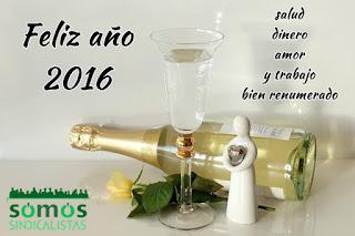 Somos sindicalistas Zaragoza les desea un feliz año