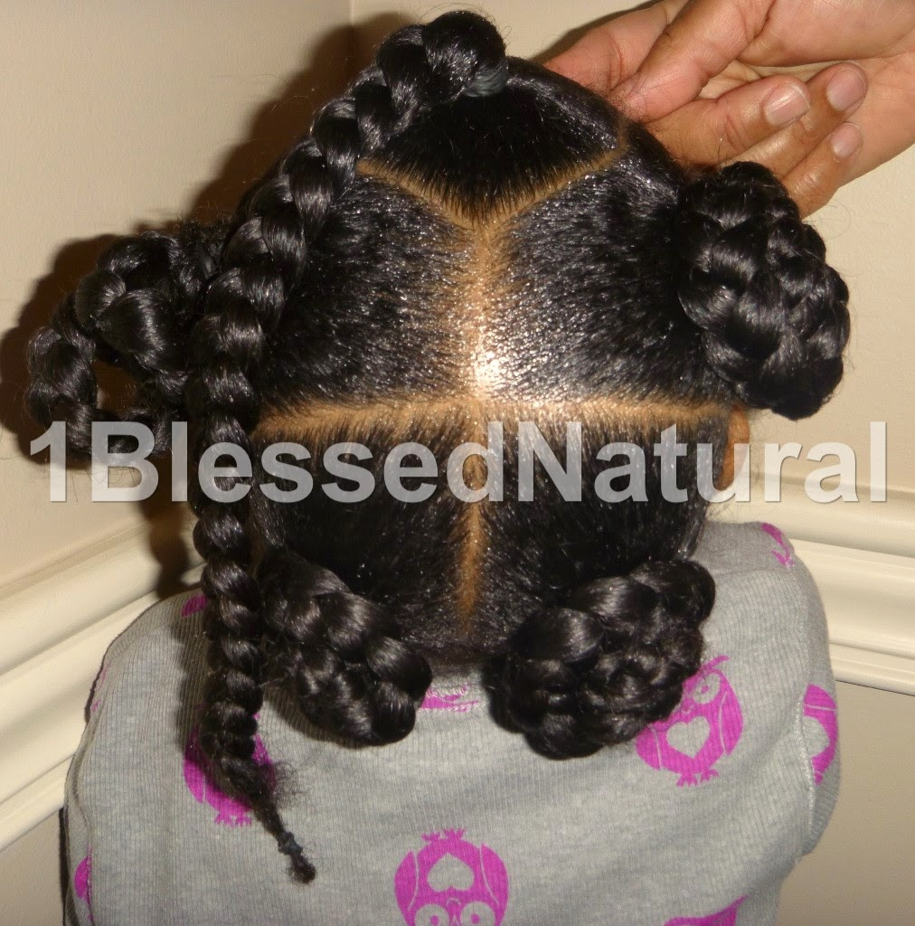 Copyright 2015 -1BlessedNatural kids back of braided buns