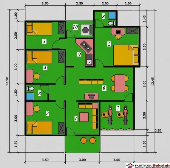 Gambar Denah Rumah Minimalis 1