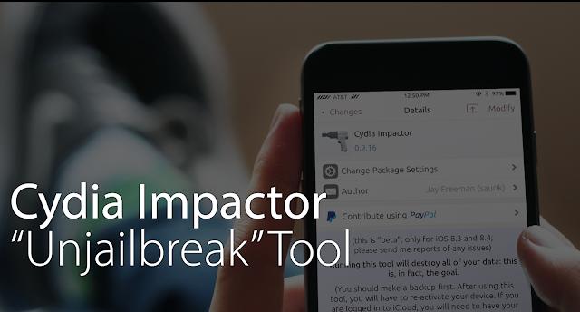 Cara Menghilangkan Jailbreak iPhone atau iPad tanpa iTunes dengan Cydia Impactor, Cara unjailbreak iPhone tanpa Restore
