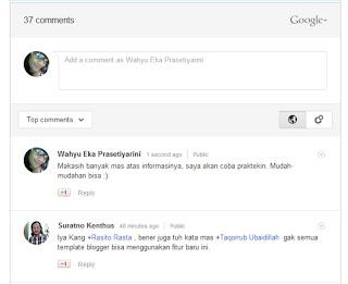 Cara Menampilkan Komentar Google Plus di Blog