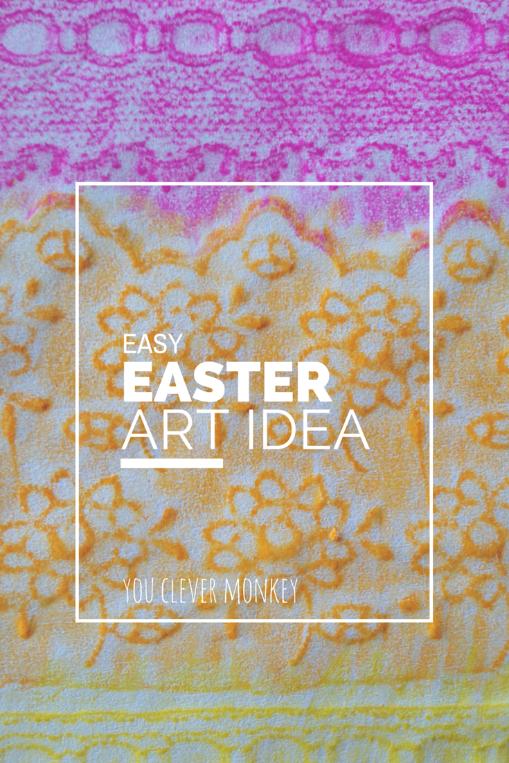 Easy Easter Art Idea from you clever monkey