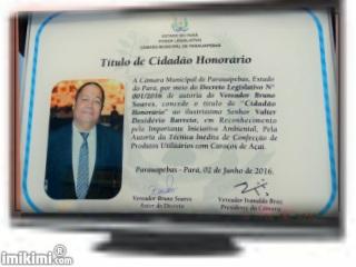 Titulo de Cidadão Honorário