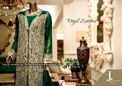 Junaid Jamshed Premium Embroidered Chiffon Collection 2015