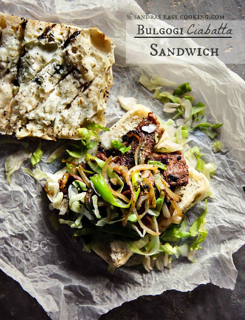 Bulgogi Ciabatta Sandwich #Recpie #homemade #foodie