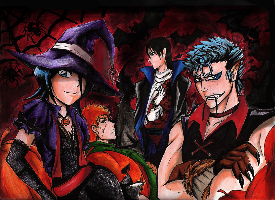 Anime Characters For Halloween : Halloween wallpaper bleach anime for