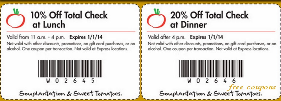 Sweet Tomatoes Coupons February 2014