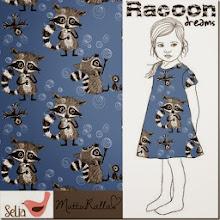 Racoon Dreams Sininen