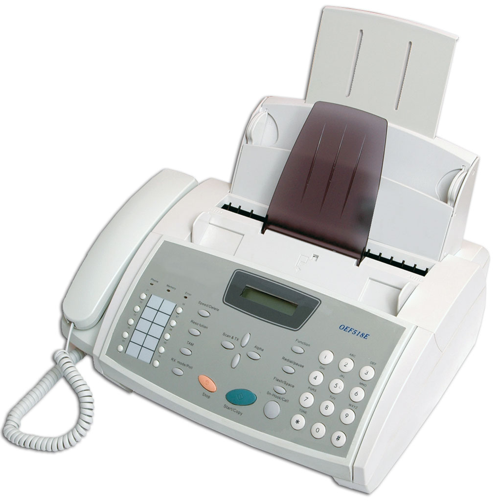 can a fax machine work with