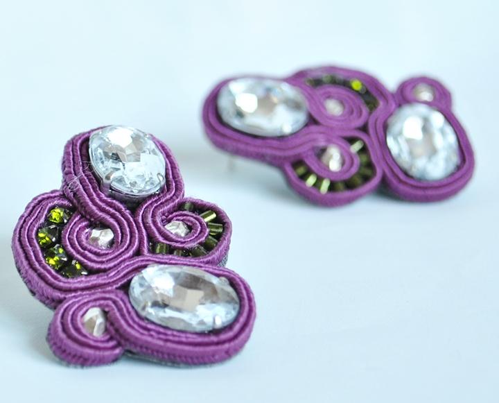 GRAPES - cristalli, perline, soutache
